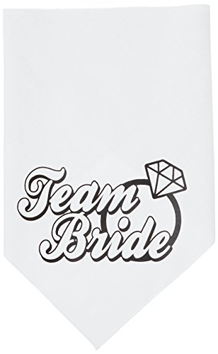 (Mirage Pet Products Team Bride Screen Print Bandana, Large, White)