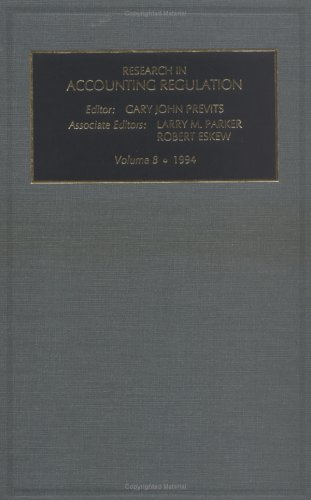 Research in Accounting Regulation Vol 8 1994