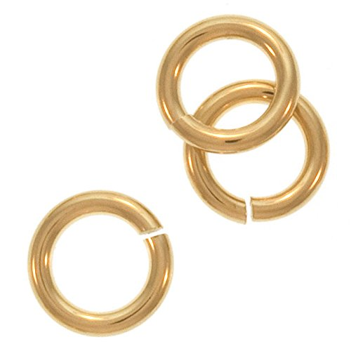Beadaholique 6-Piece Filled Jump Lock Rings, 6mm, 18-Gauge, Gold Gold Lock Rings