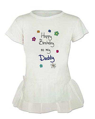 Happy Birthday To My Daddy Tutu Girl Baby T Shirt Tee Top 2t