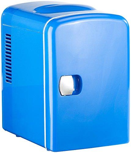 Rosenstein & Söhne Mini-Kühlschrank AC/DC, 12/230V 4l, mit Warmhalte-Funktion, blau