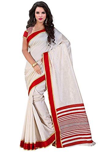 Trendz Tussar Cotton Silk Saree(TZ_Indira_Red)