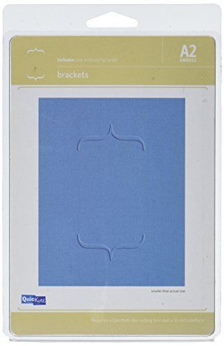 QUICKUTZ We R Memory Keepers Brackets, A2-Size, Embossing Folder