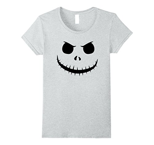 Womens Halloween Pumpkin Jack King Face Unisex T-Shirt Large Heather ()