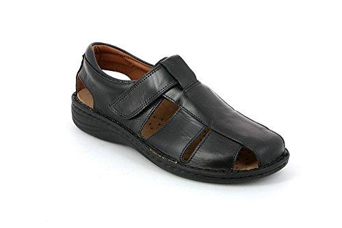 Se0015 Lino Grunland P 40 Sandalo Nero Uomo 8CHxzdH