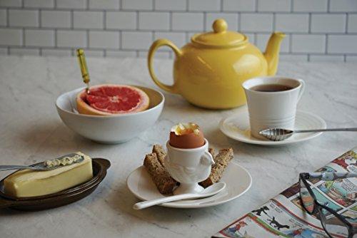 RSVP Porcelain Egg Cups and Spoons, Set of 4 by RSVP International (Image #3)