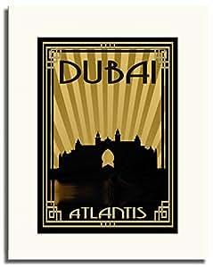 Atlantis - Sepia With Gold Border F05-nm (a1) - Framed