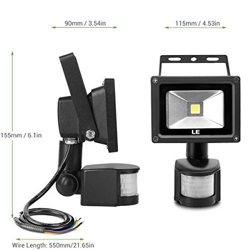 10w super bright motion sensor flood light outdoor led flood lights. Black Bedroom Furniture Sets. Home Design Ideas