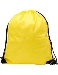 Amazon.com: Yellow - Drawstring Bags / Gym Bags: Clothing, Shoes ...