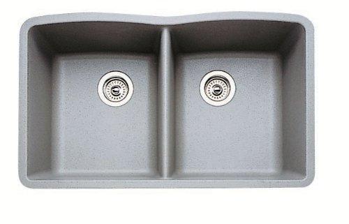 Diamond Equal Double Bowl Silgranit II (Um) - Metallic Gray ()