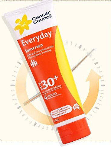 Cancer Council Everyday sunscreen SPF 30+ Everyday 110ml Tube imported from Australia by Cancer Council