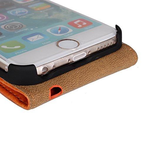 Para iPhone 6 / 6S 4.7 inch Caso compacto de piel PU, arriba-abajo piel abierta PU Funda de piel con ranura para tarjeta y función de protección completa con cierre magnético Caja a prueba de golpes p Blanco