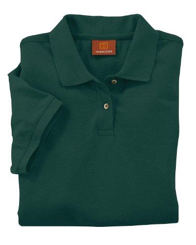 Harriton Ladies' 6 oz. Ringspun Cotton Piqué Short-Sleeve Polo 3XL Hunter