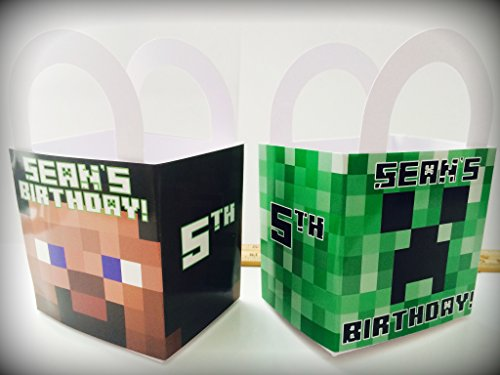 Minecraft Birthday Party Supplies Favors Treat Boxes