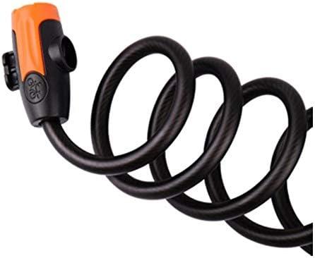 KEHUITONG 自転車のロック、キーロック、携帯用ワイヤーロック、マウンテンバイクのロック、電気オートバイの盗難防止ロック、鋼鉄ケーブルロックの自転車の乗馬装置の付属品 (Color : Black)