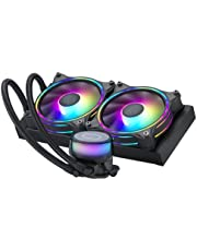 Cooler Master MasterLiquid ML240 Illusion Close-Loop AIO CPU Liquid Cooler, Translucent Dome, 3rd Gen Dual Chamber Pump, 240 Radiator, Dual MF120 Halo for AMD Ryzen/Intel 1200/1151