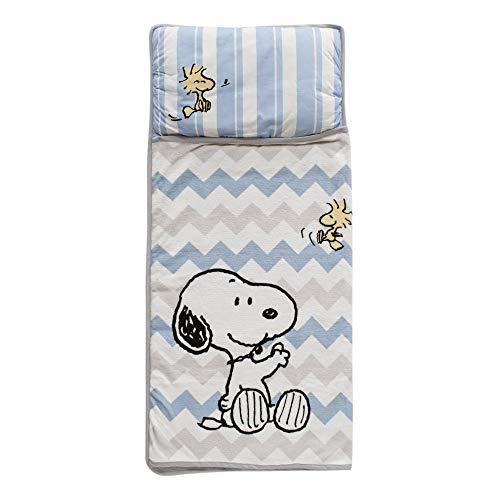 Lambs & Ivy Snoopy Nap Mat, Blue (Snoopy Baby Stuff)