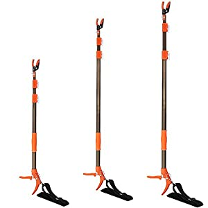 Asunflower 10Ft Long Reach Tree Pruner Pole Saw, Cut and Hold Extendable Fruit Picker Hand Loppers with Saw