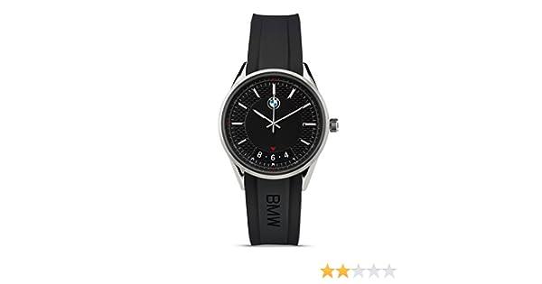 BMW Reloj de pulsera moderno para hombre, acero inoxidable, color negro (colección 2016/2018): Amazon.es: Coche y moto
