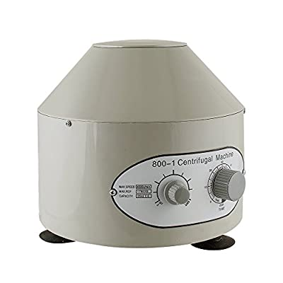 Lolicute 110V 4000 RPM Desktop Electric Lab Laboratory Centrifuge with Timer and Speed Controller - Capacity 20 ml x 6 (United States Shipping)