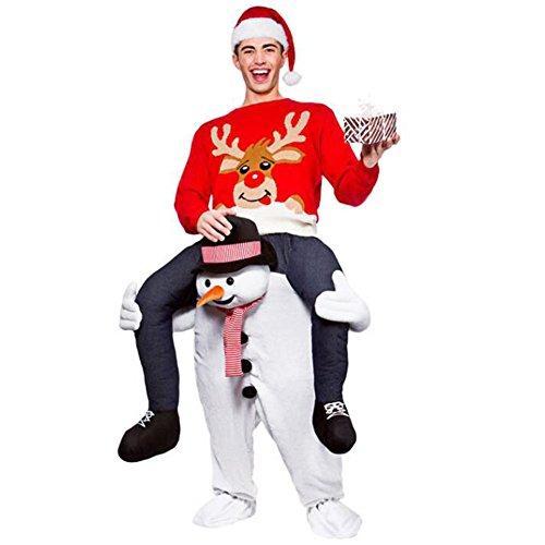 Christmas Unique Piggyback Ride On Riding Shoulder Adult Costume