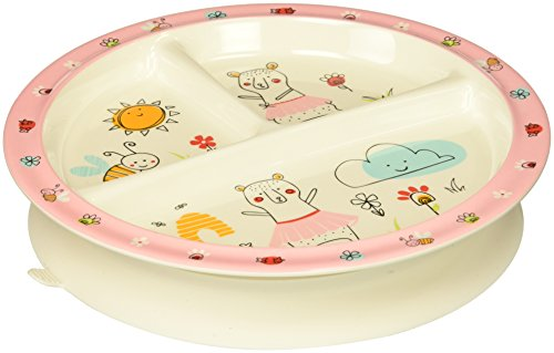 (SugarBooger Divided Suction Plate, Clementine)