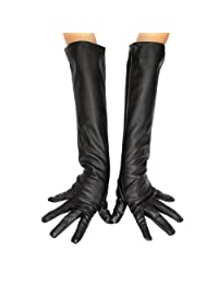 ECOSCO Ladies Opera Long Genuine Soft Nappa Leather Gloves Hand Warmer