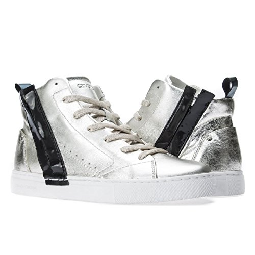 London Crime Sneakers Size Platino 36 Donne Alte d48y41q