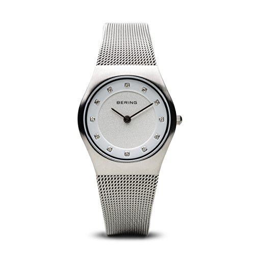 BERING Time Women's Classic Collection Watch with Mesh Band and scratch resistant sapphire crystal. Designed in Denmark. 11927-000 by Bering