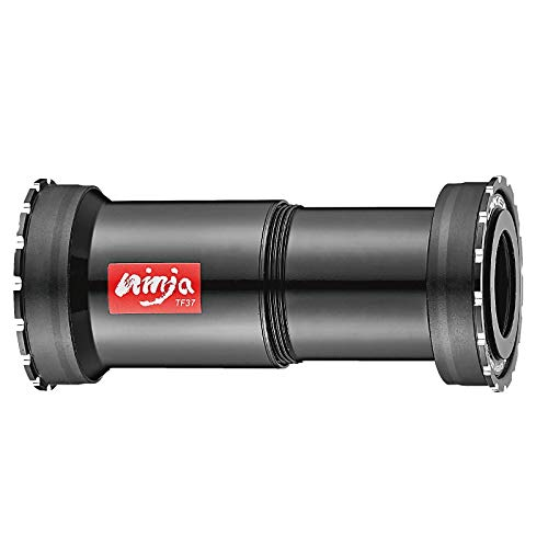 Token Thread Press Fit Bottom Bracket BB386 (Φ46x86.5mm) Frame to Shimano 24mm Crankset, Ti Ceramic Bearing, Ninja BB