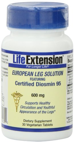 Certified Life Extension européenne Diosmin 95, Vegetarian Capsules, 600 mg, 30-Count