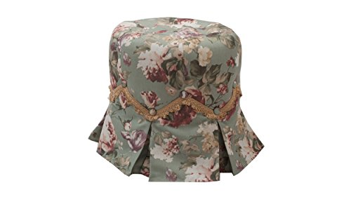 - Jennifer Taylor Home 2352-588 Polly Vanity Stool, Green Floral
