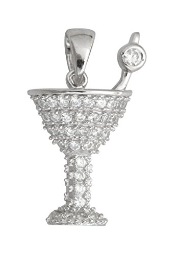 Decadence Sterling Silver Martini Glass Pendant