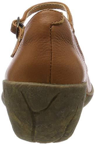 Chiusa caliza cuero Tacco Naturalista Scarpe Cuero Soft Grain Marrone Donna N5480 Cuero El Col Punta 4vxSXwx