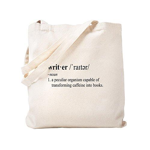 CafePress WRITER Natural Canvas Tote Bag, Cloth Shopping Bag