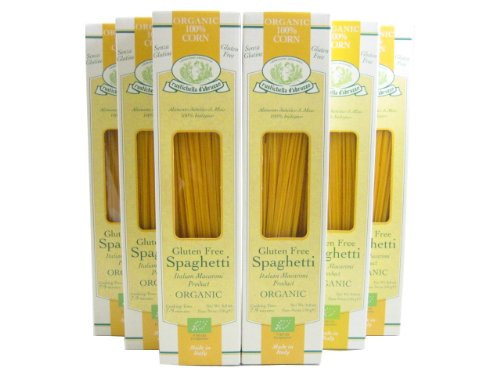 Organic Gluten Free Corn Spaghetti Pasta (Case of 6 - 8.8 Ounce Packages)