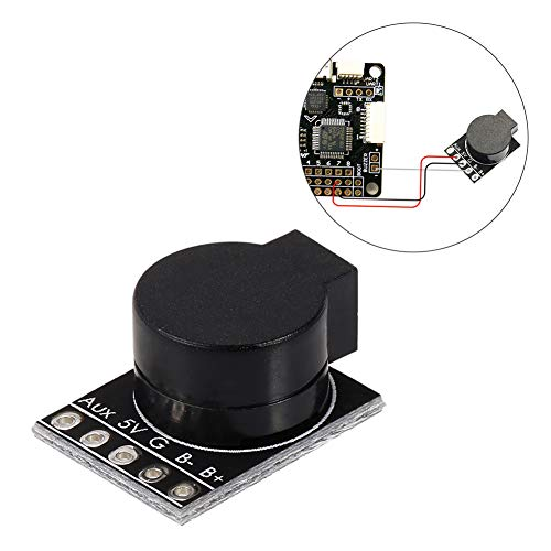 (Misszhang-US Lost Beeper Flight Controller Built-in MCU 5V Loud Buzzer for FPV Multicopter Black)