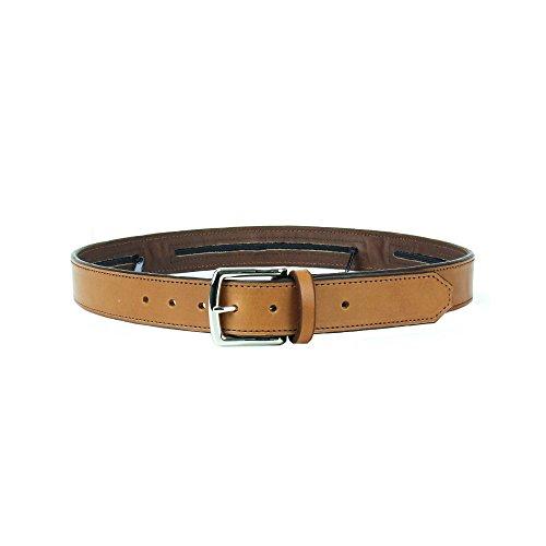 Spy, Escape & Evasion Harness Leather,Solid Brass Buckle, 3 Hidden Pouches Gun Belt, Waist Size: S 34-36, Belt Width: 1.75