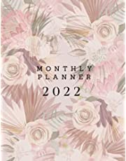 2022 Monthly Planner: 2022 Monthly Planner, Black Cover Design, One Year Organizer, 110 Pages Month per Month Planner with Notes, Calendar and To Do List, Size Large 8.5 x 11 inches.