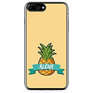 iPhone 7 Plus Transparent Edge Phone Case Aloha Phone Case Beach Phone Case Pineapple iPhone 7 Plus Cover with Transparent Frame
