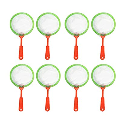 TOYANDONA 10PCS Kids Fish Nets Toy Plastic Butterfly Insect Net Outdoor Toys for Children (Random): Toys & Games