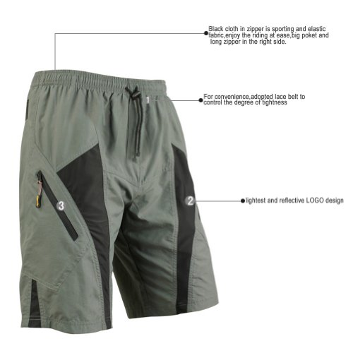 TRUVELO Santic Men's Padded Loose Fit Shorts