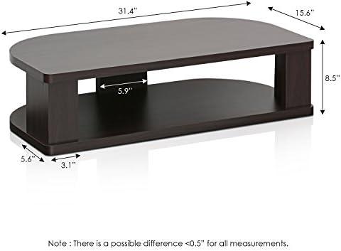 FURINNO Indo Wide Swivel Shelf for TV, 31.4