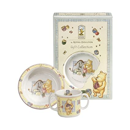 297f5664d899 Royal Doulton Winnie The Pooh Baby Gift Set  Amazon.co.uk  Kitchen   Home
