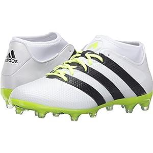 adidas Performance Women's Ace 16.2 Primemesh FG/AG W Soccer Shoe, White/Black/Electricity, 8 M US