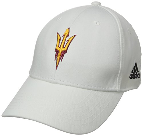 NCAA Arizona State Sun Devils Men's Structured Adjustable Cap, One Size, White