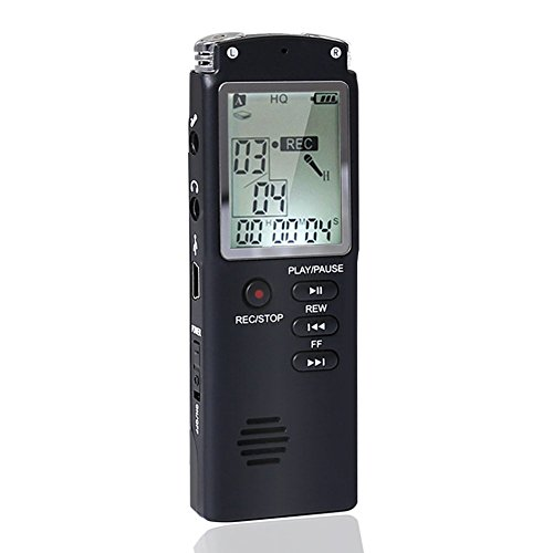 Voice Recorder USB, ZOTO 8GB Multifunctional Rechargeable Dictaphone Stereo Sound Recorder,Built-in Microphone Audio Recorders with MP3 Player Perfect