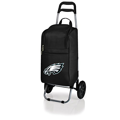 - NFL Philadelphia Eagles Insulated Cart Cooler with Wheeled Trolley, Black
