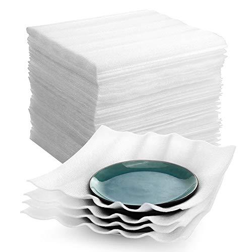 Cushion Foam Sheets, UCGOU 12 x 12 Inch Foam Cushion Wrap Sheets Cushioning for Moving Storage Packing and Shipping Supplies, White, 50-Pack
