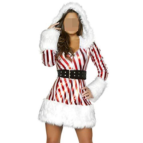 Faux Fur Trim Velvet Bustier Sweet Santa Costume -